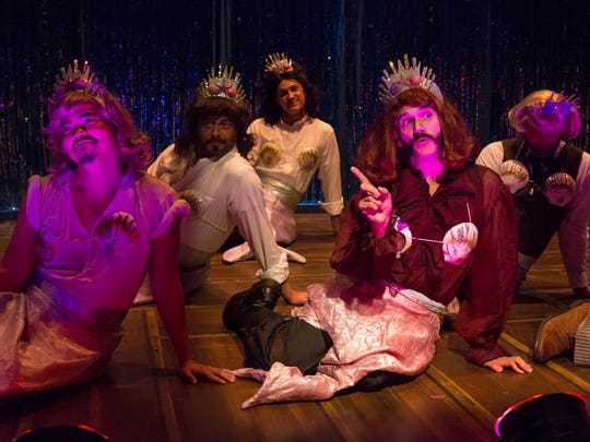 Eric Olson (front right) plays Captain Hook's predecessor