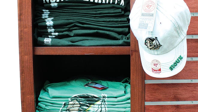 Shops continue to sell merchandise with the Fighting Sioux logo and nickname.