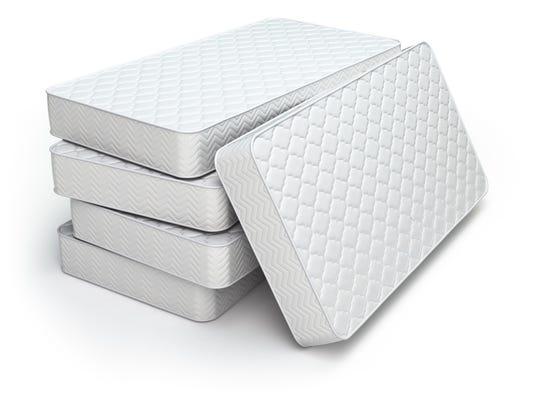 White mattress isolated