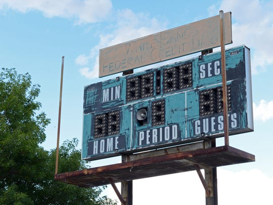 The only scoreboard at the High Noon complex in Las