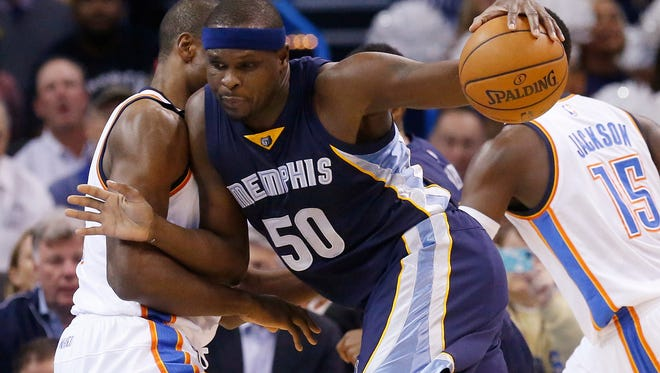 Zach Randolph has six double-doubles this season for the Grizzlies, who have an NBA-best 7-1 record.