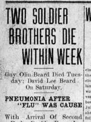 The Oct. 1, 1918, issue of the Staunton newspaper reported