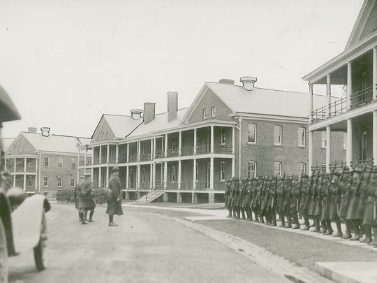 A barracks similar to the one that now houses Restore Skin Therapy sits on Fort Benjamin Harrison on March 12, 1920.