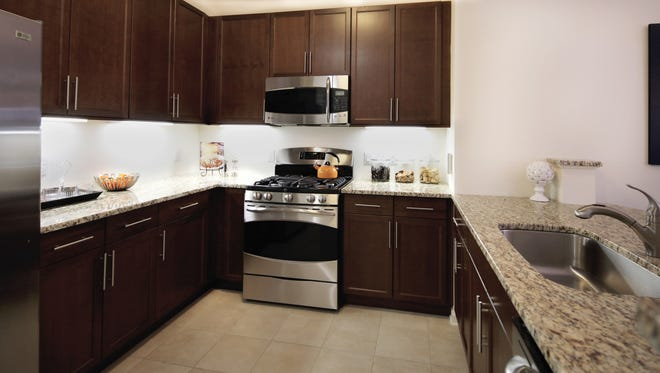 Kitchens at The M are designed with quality kitchen appliances, cabinets and countertops.