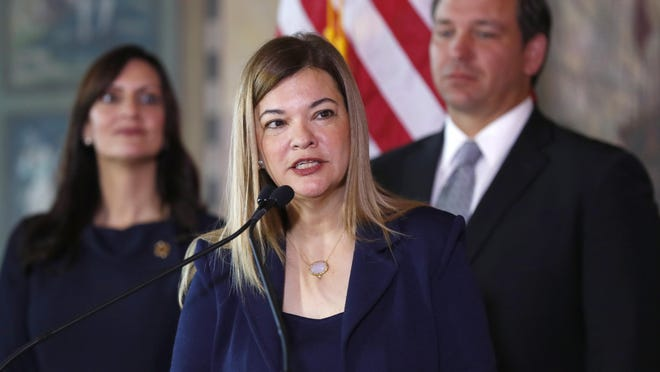 MIAMI -- Florida Supreme Court justice Barbara Lagoa (c), one of three state high court appointments by Gov. Ron DeSantis last year, has been elevated to the federal bench by President Donald Trump along with Justice Robert Luck. Those two openings give DeSantis the rare opportunity to right a wrong by appointing a black justice to the court.
