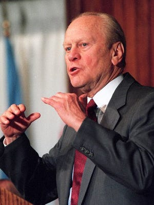 Gerald Ford in 1995.