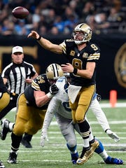 Saints quarterback Drew Brees just threw another touchdown pass, while you were reading this. Don't ask how.