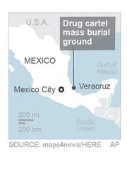 Mass burial ground on the outskirts of the city of Veracruz.