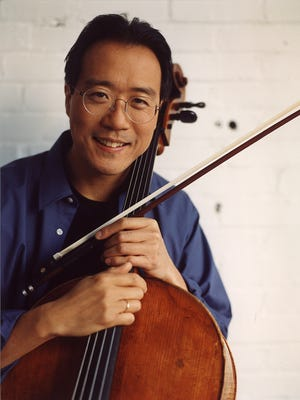 Cellist Yo-Yo Ma plays with the Cincinnati Symphony Orchestra in a sold-out concert on Wednesday in Music Hall.