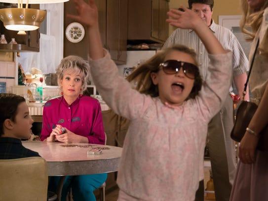 Sheldon's sister, Missy (Raegan Revord), in sunglasses,