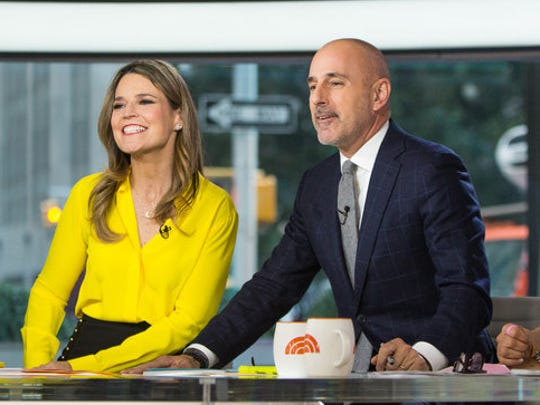 """""""To the people I have hurt, I am truly sorry,"""" former 'Today' co-anchor Matt Lauer, with Savannah Guthrie, left, and Hoda Kotb said in a statement."""