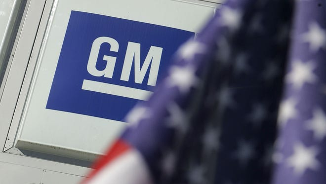 Sign with the GM logo