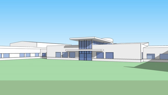 The outside of the proposed new Tiffin elementary school.