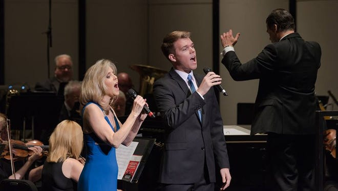 """The Coachella Valley Symphony performs """"An Afternoon at the Popera"""" featuring Dr. Lisa Lindley and her son Jackson Lindley on May 8, 2016 at the McCallum Theatre."""