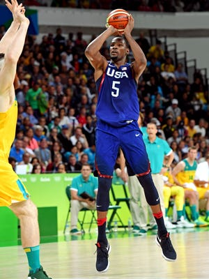 Kevin Durant leads the U.S. team in scoring.