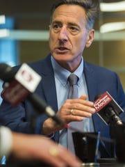 Gov. Peter Shumlin, photographed at the Burlington Free Press.