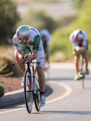 Lionel Sander of Canada competes in the St. George