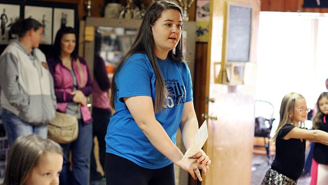Elgin senior Audrey Watkins teaches a tap dancing class for tiny dancers at Douce Dance Studio, where Watkins has studied for 12 years. Watkins is The Marion Star female Teen of the Month for October.