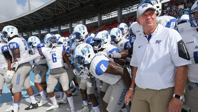 MTSU head coach Rick Stockstill and his players were able to experience the Bahamas last year during the Popeyes Bahamas Bowl.
