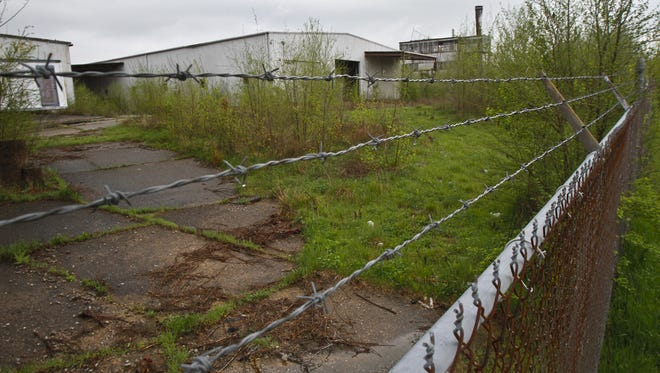 The Black Leaf property is an idle industrial property at the end of 17th St. below WIlson Ave. in western Louisville, shown here in  2012.