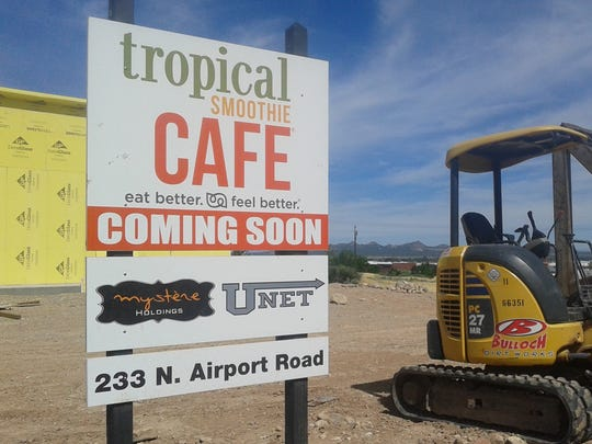 A Tropical Smoothie Cafe on the corner of State Route 56 and Airport Road is starting to take shape in Cedar City on Saturday, July 9, 2016.