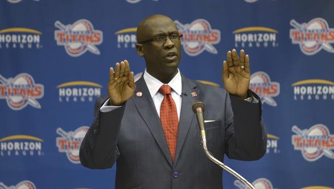 University of Detroit basketball coach Bacari Alexander
