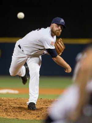 A year ago, Barrett Astin was one of the starters in the Blue Wahoos pitching rotation. Now, he's part of the Cincinnati Reds roster for Opening Day and one of eight former Blue Wahoos pitchers on the major league club.