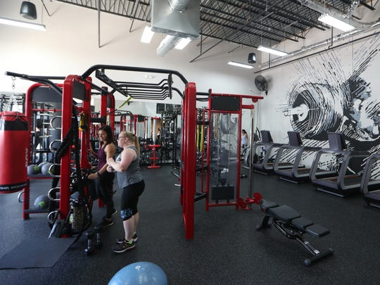 Working out at Body Trac studio in the Centre of Tallahassee mall .