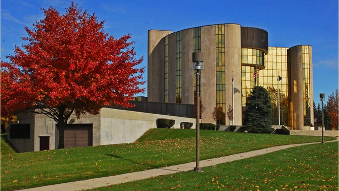 Livonia City Hall in Livonia, Mich., the largest of the country's seven Livonias.