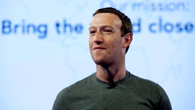 Facebook CEO Mark Zuckerberg speaks during  the Facebook Communities Summit, in Chicago in June.