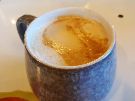 Pumpkin Spice Latte (medium is $4.25) at The Bean Cafe de Mesilla.