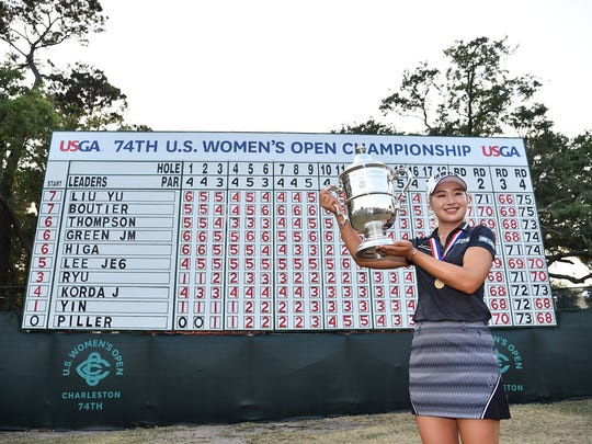 Jeongeun Lee6 rides Sunday surge to U.S. Women's Open championship