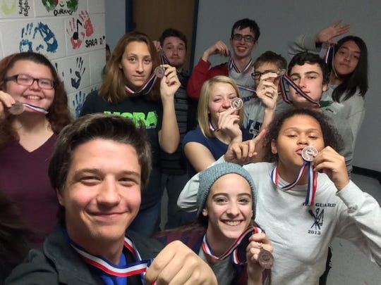 Thurston band members proudly sported their winning medals at school the Monday after the State competition.