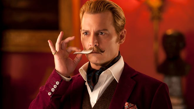 """Johnny Depp stars in """"Mortdecai,"""" out this weekend."""