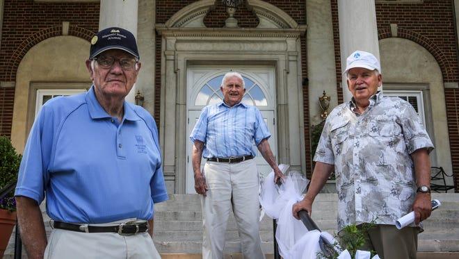 (From left) Masonic Homes of Kentucky alumni Joe Morrison, Joe Staten, and Eugene Blanton stand together on June 16, 2017.