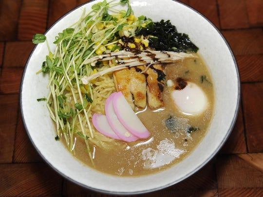 A dish from Johnny Noodle King ramen restaurant in Detroit.