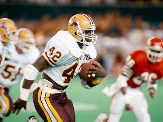 Leonard Russell had four touchdown runs for Arizona State against Houston in the Coca-Cola Bowl on Dec. 1, 1990, at the Tokyo Dome.