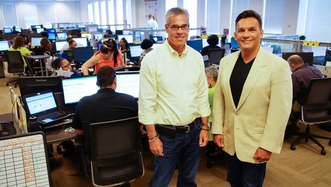 Sean Montgomery, CFO, (from left) and Todd Bavol, CEO, founded Integrity Staffing Solutions in 1997.