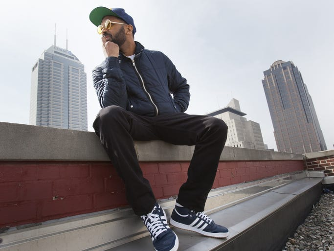 Comedian-actor Mike Epps poses on the roof of The Indianapolis Star building on March 10, 2014.