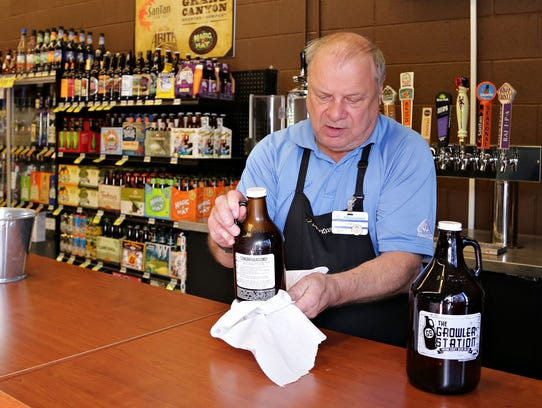 Casey Tomlinson, the liquor manager of this Albertson's