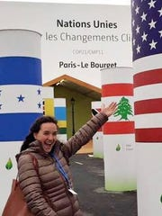 Gina Fiorile, 19, a student of environmental policy and development at the University of Vermont, at the COP21 climate conference in Paris earlier this month.