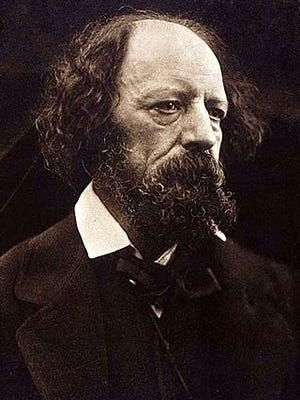This Carbon print of British poet Alfred, Lord Tennyson, was produced in 1869 by Julia Margaret Cameron and represents one of more than a dozen photographs she took of the famed writer.