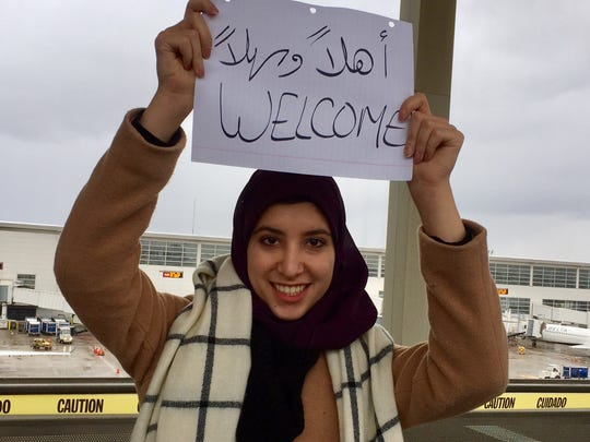Ayah Kutmah, 18, a student at the University of Michigan