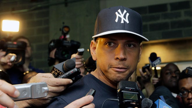 Alex Rodriguez is serving a one-year suspension from baseball.
