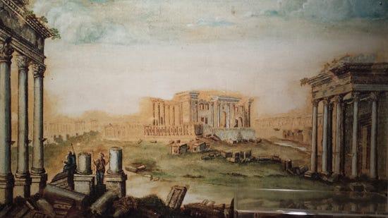 Fisher's painting of Palmyra