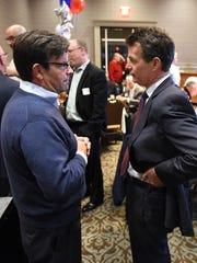 Blair Bowman, left, talks with U.S. Congressman Dave