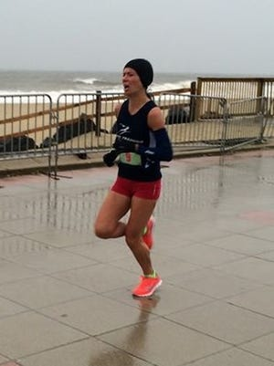 Marissa Alberti of Oceanport finished second overall last year at the Beauty and the Beach Run in Long Branch.