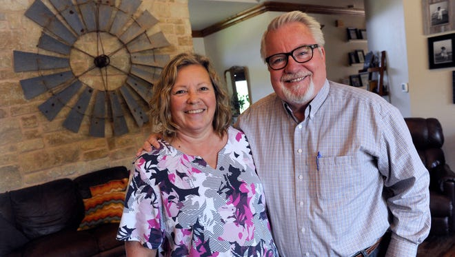 Kyle and Bernita Sheets at their home in Ovalo Thursday August 31, 2017. Kyle is a doctor who will be named Humanitarian of the Year during the annual conference of the American Academy of Family Physicians in San Antonio this week. Kyle is being honored for his work establishing Physicians Aiding Physicians Abroad (PAPA Missions) in 2003.
