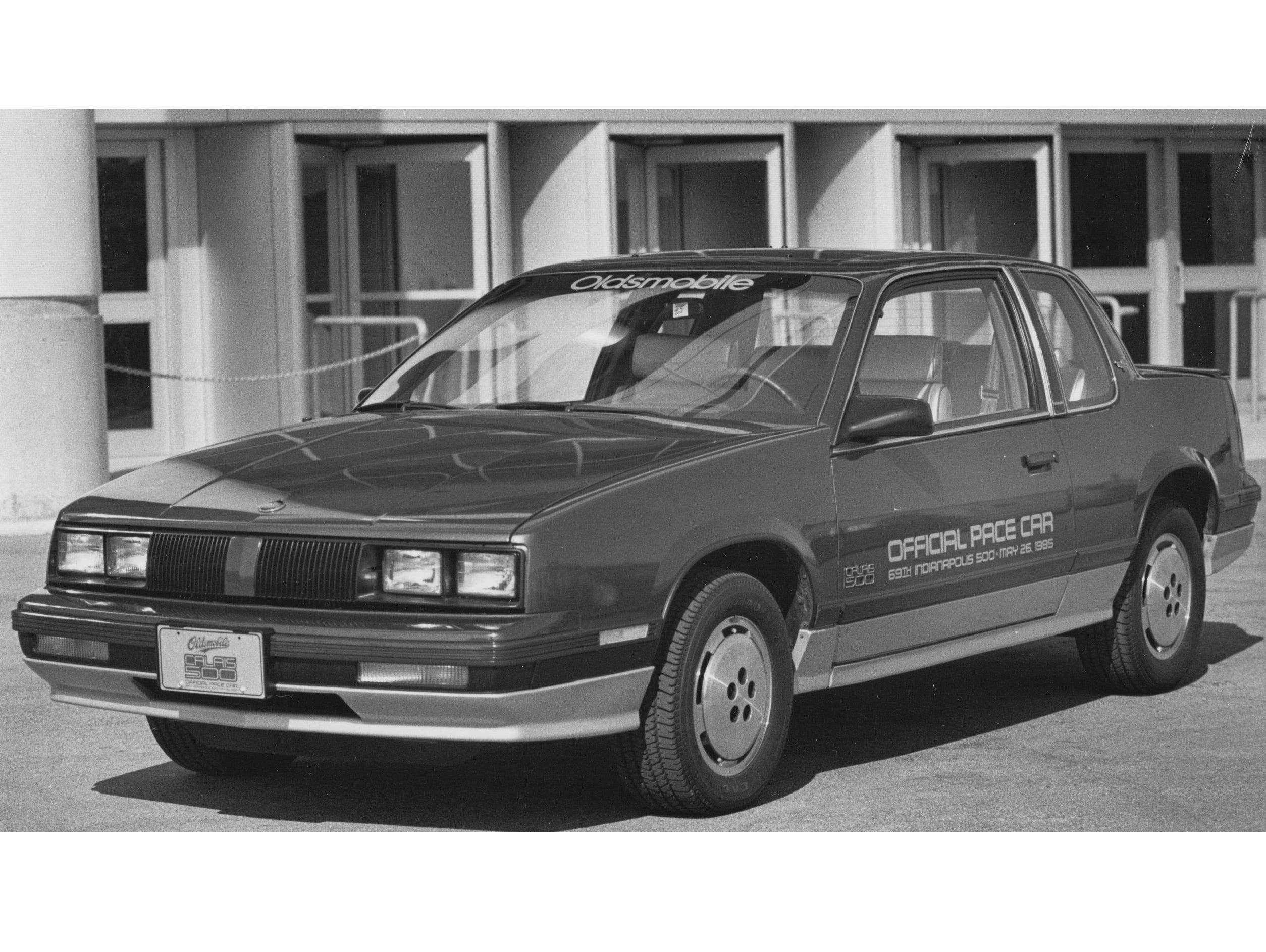 The 1985 Indianapolis 500 pace car was the Oldsmobile Calais. The actual pace car was a convertible.