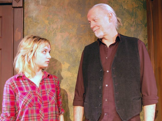 "Gianna Kiehl and Paul Schnabel star in the Vermont Stage production of Greg Pierce's ""Slowgirl,"" which opens Wednesday in Burlington."